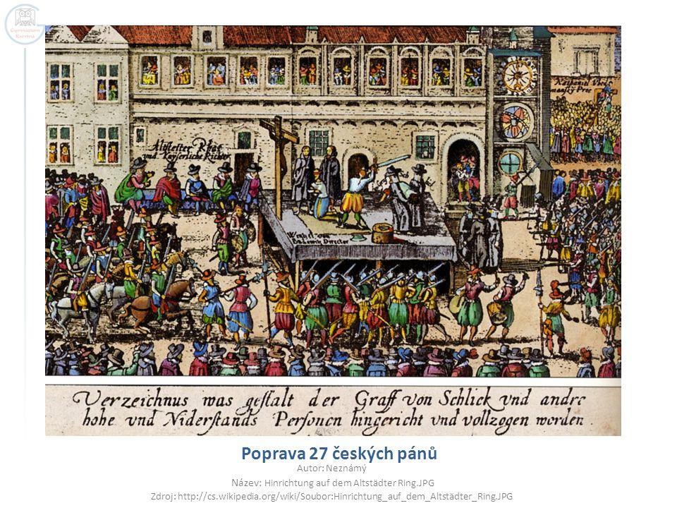 konfiskace majetku  odchody do exilu  hospodářský úpadek  posílení nevolnictví  rekatolizace a germanizace