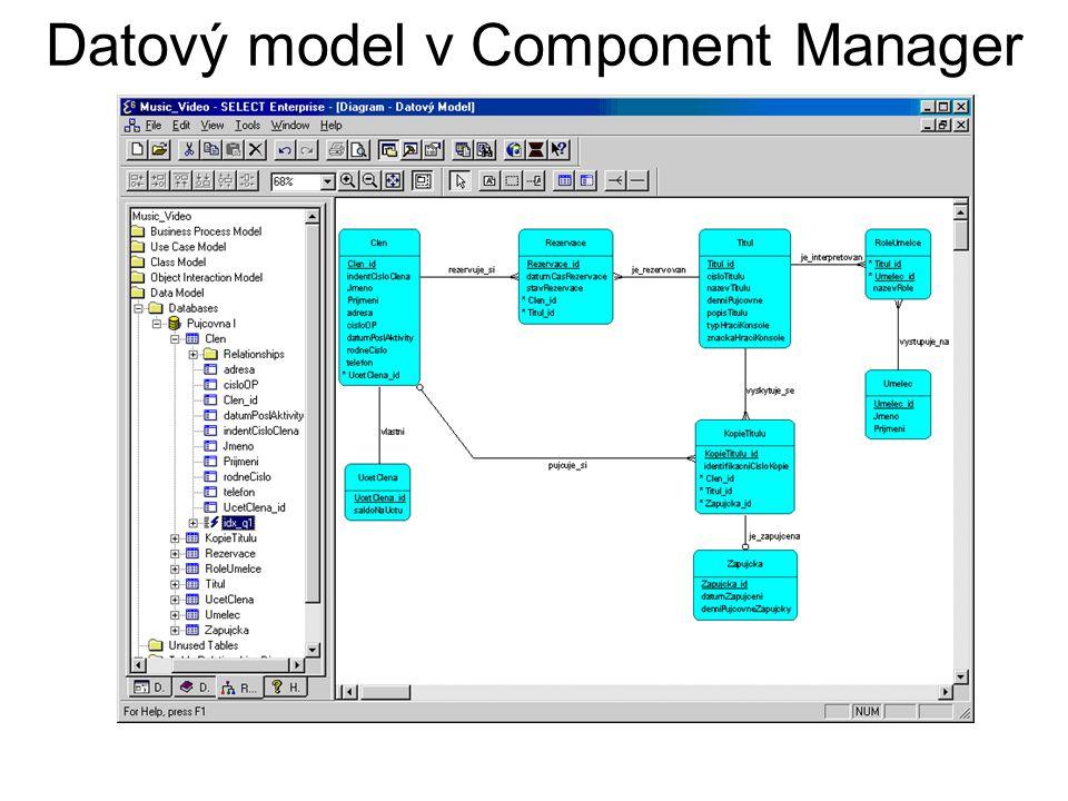 Datový model v Component Manager