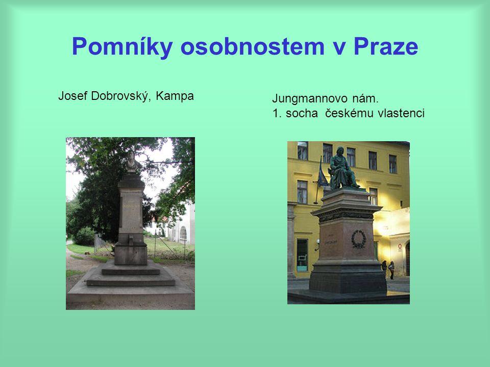 Pomníky osobnostem v Praze Josef Dobrovský, Kampa Jungmannovo nám. 1. socha českému vlastenci