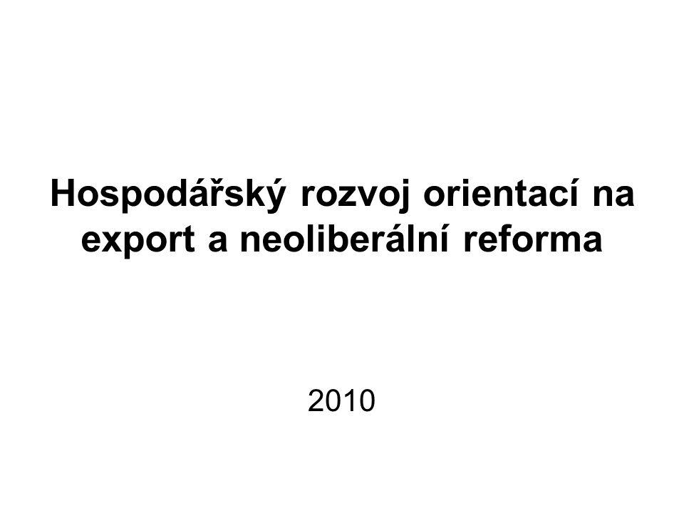 Hospodářský rozvoj orientací na export a neoliberální reforma 2010