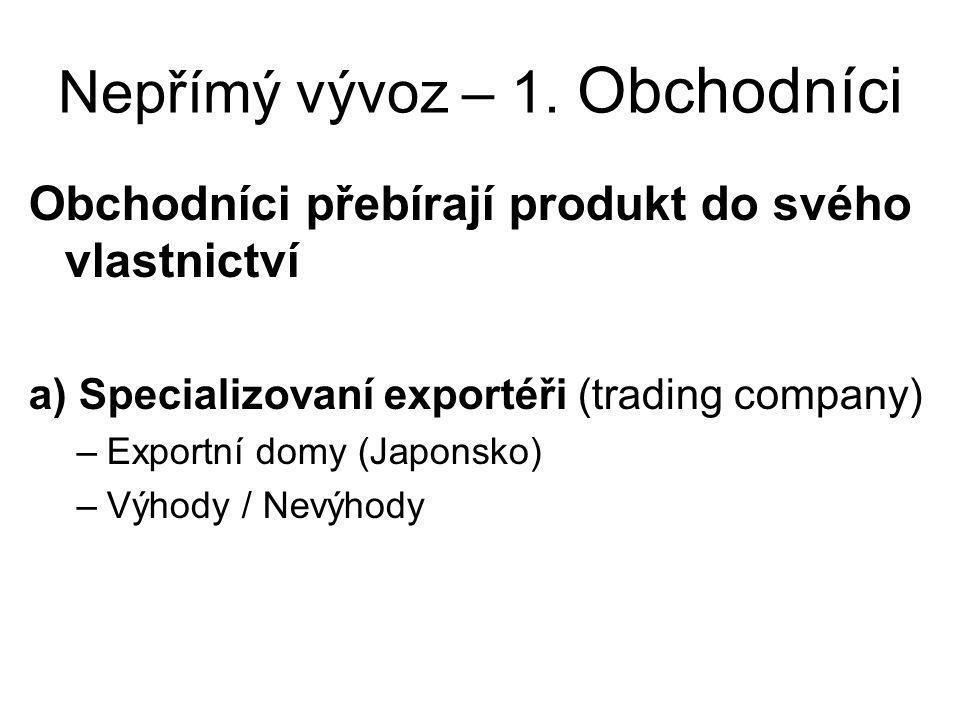 Nepřímý vývoz – 1.
