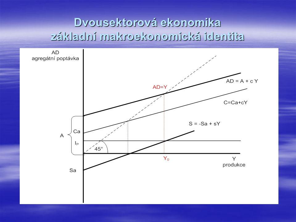 Dvousektorová ekonomika základní makroekonomická identita