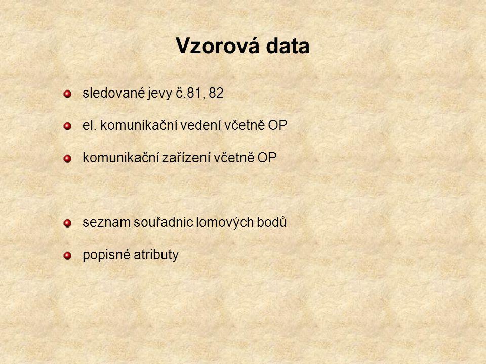 Vzorová data sledované jevy č.81, 82 el.
