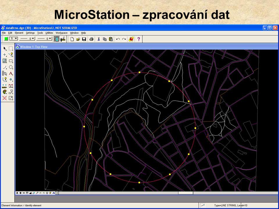 MicroStation – zpracování dat