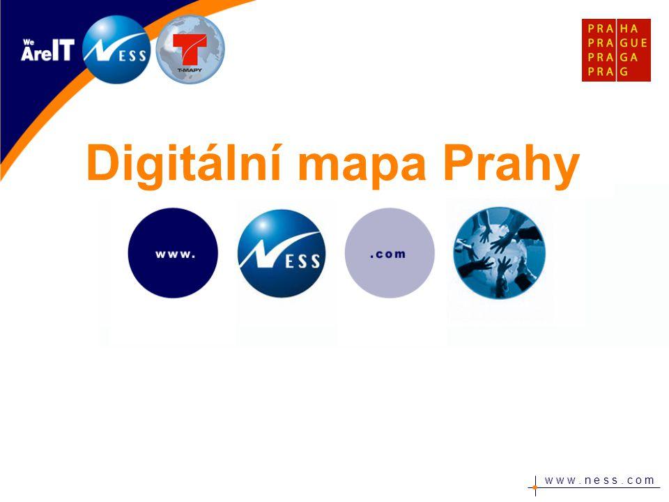 w w w. n e s s. c o m Digitální mapa Prahy