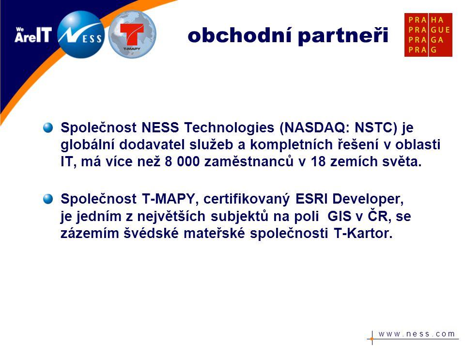 w w w. n e s s. c o m Společnost NESS Technologies (NASDAQ: NSTC) je globální dodavatel služeb a kompletních řešení v oblasti IT, má více než 8 000 za