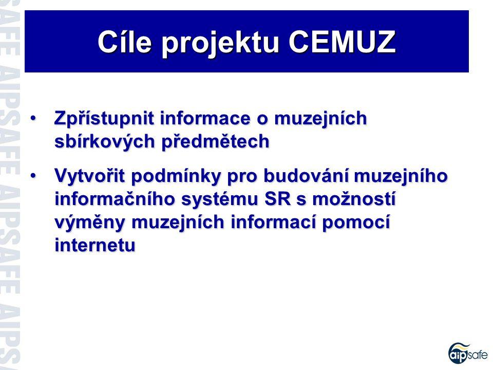 Koncepce řešení CEMUZ Koncepce řešení CEMUZ I.etapa – Dávkové exporty do CEMUZu Lokální databáze ESEZ Centrální databáze CEMUZ Dávkové přenosy INTERNET Zabezpečené spojení