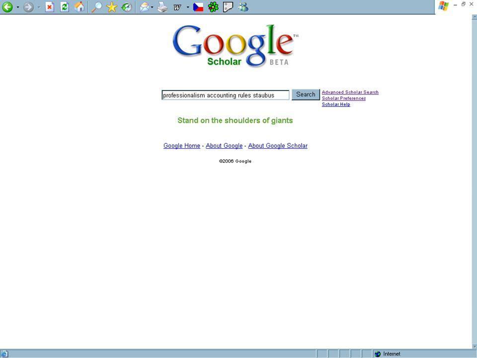 SUAleph, Brno 18.-19. října 200624 [4.] Google Scholar