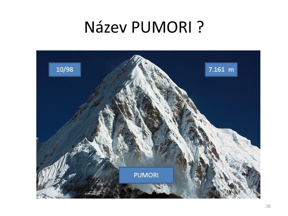 Název PUMORI 10/987.161 m PUMORI 38
