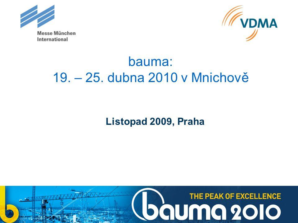 bauma: 19. – 25. dubna 2010 v Mnichově Listopad 2009, Praha