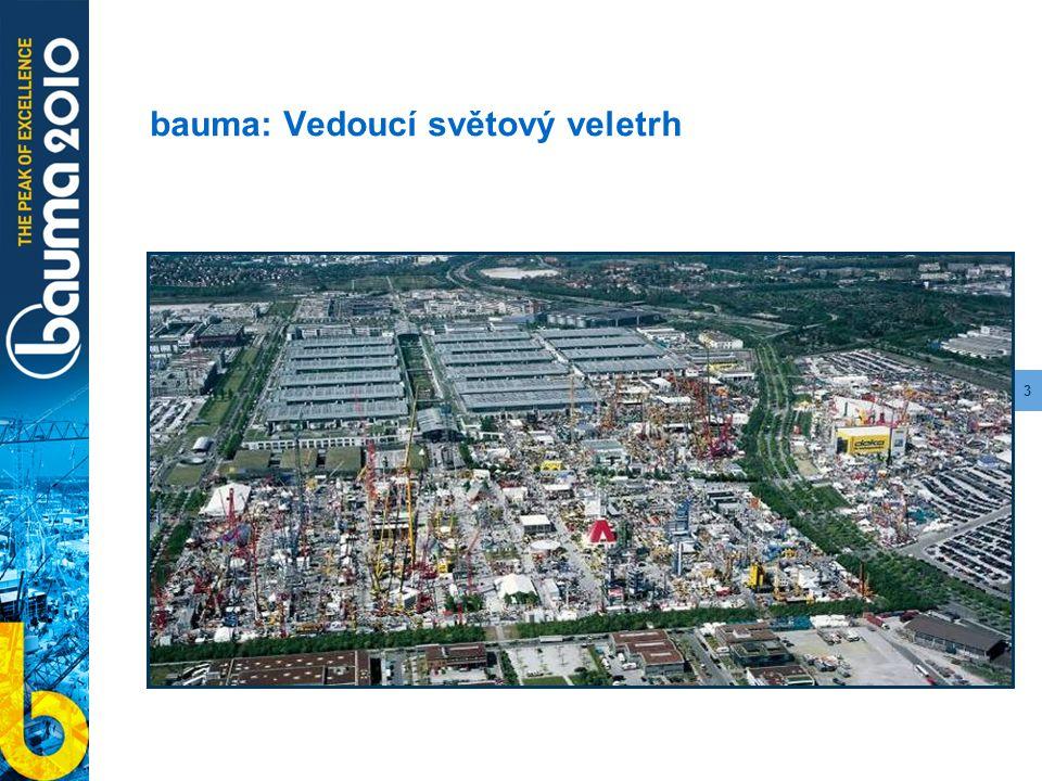 3 bauma: Vedoucí světový veletrh
