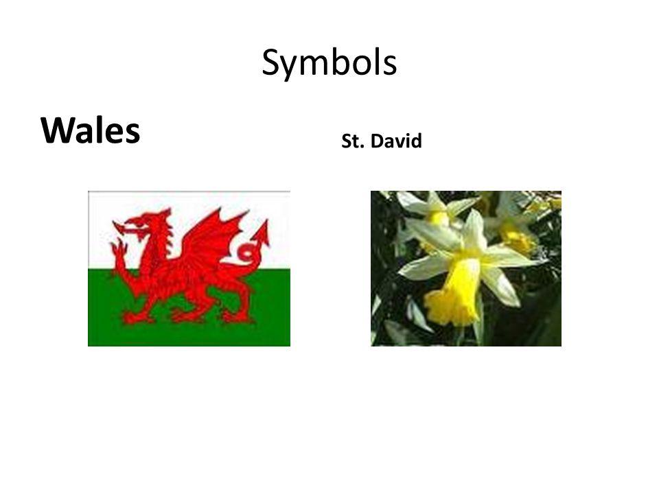 Symbols Wales St. David