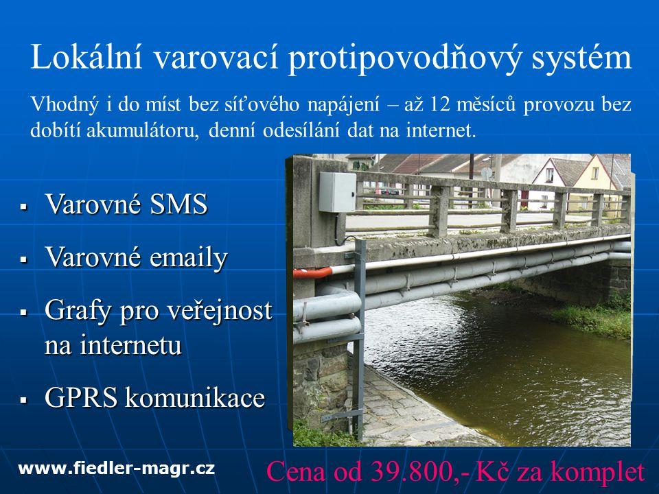 Datahosting na serveru Přístup přes webový prohlížeč, parametrizace na dálku, tisk a exporty www.fiedler-magr.cz