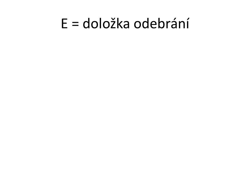 E = doložka odebrání