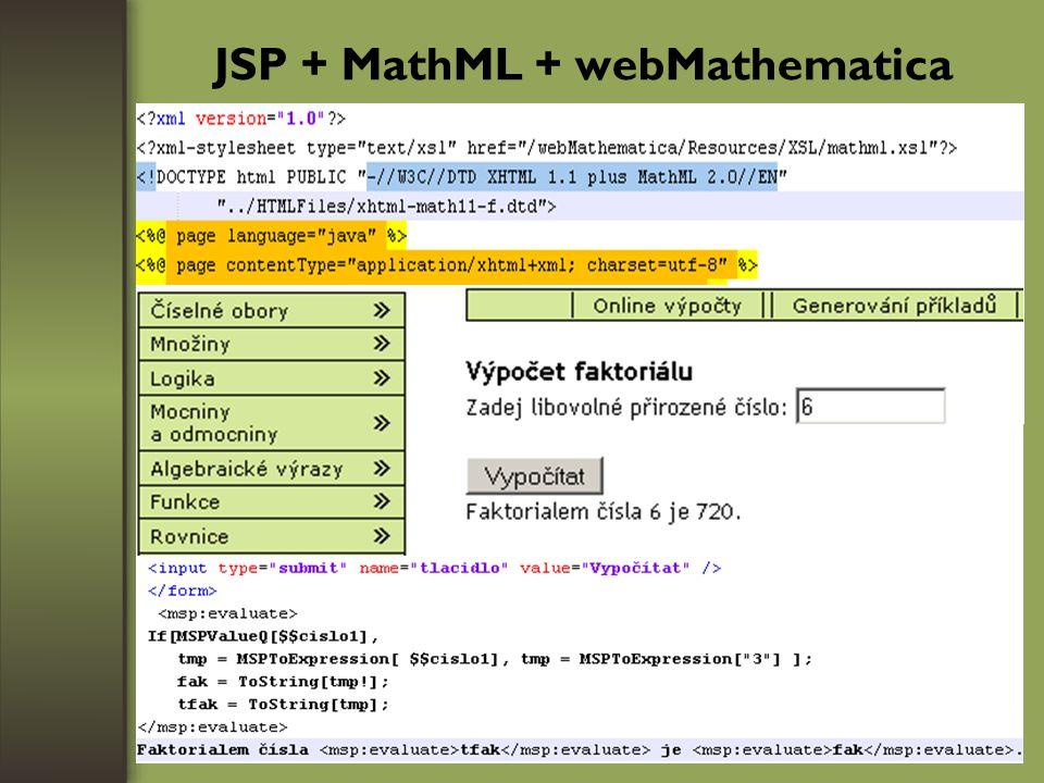 JSP + MathML + webMathematica