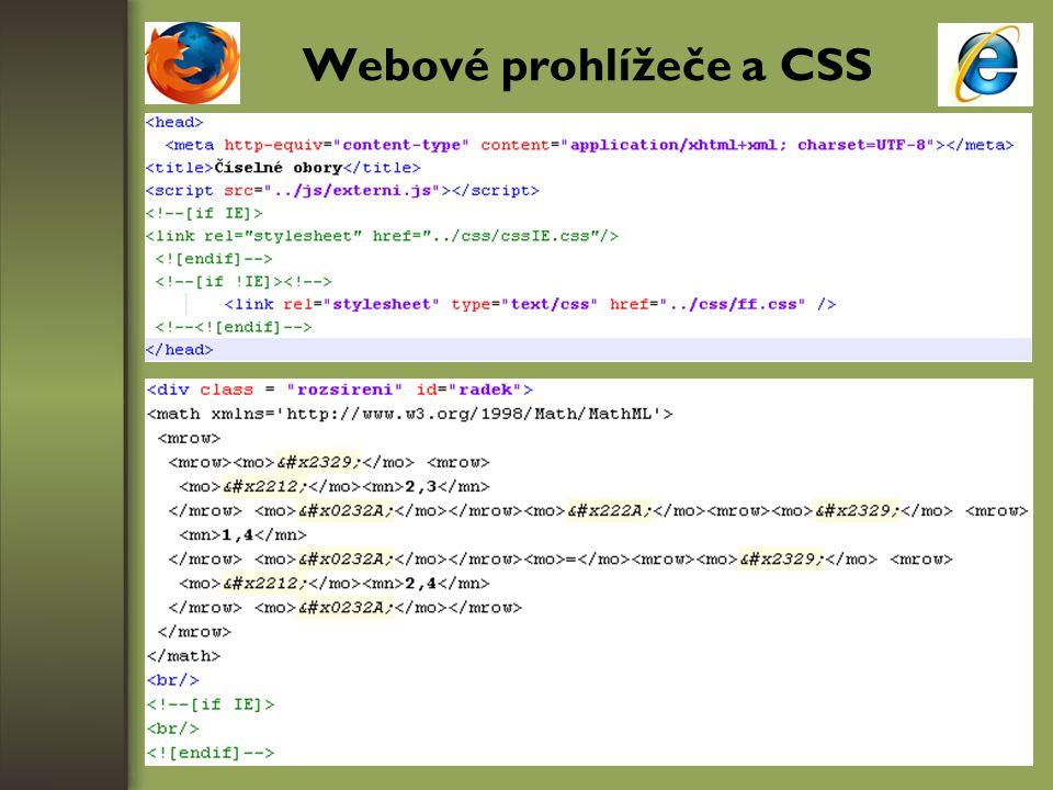 Webové prohlížeče a CSS