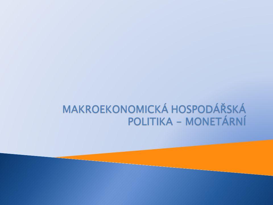MAKROEKONOMICKÁ HOSPODÁŘSKÁ POLITIKA - MONETÁRNÍ