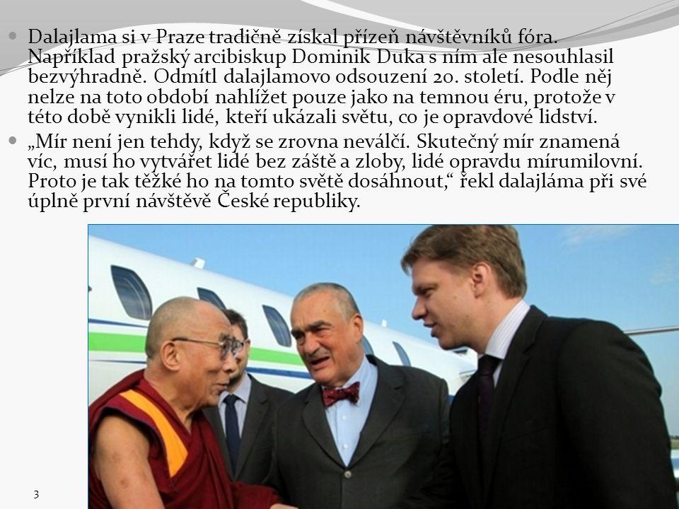Dalajlama si v Praze tradičně získal přízeň návštěvníků fóra. Například pražský arcibiskup Dominik Duka s ním ale nesouhlasil bezvýhradně. Odmítl dala