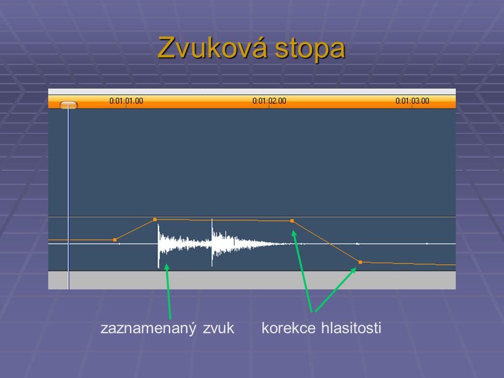 Zvuková stopa zaznamenaný zvuk korekce hlasitosti