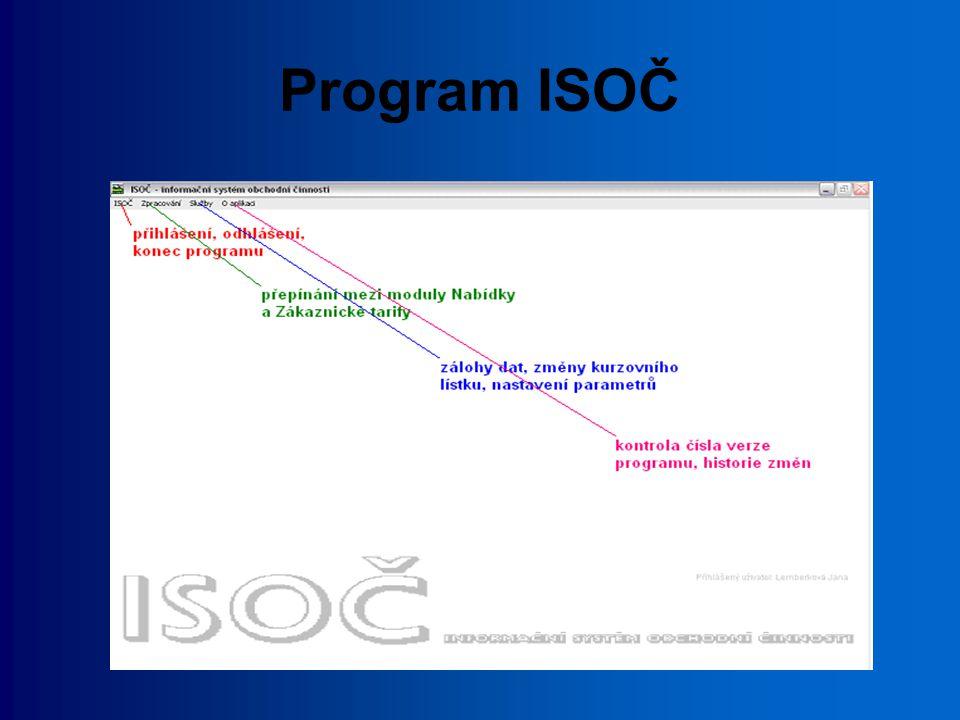Program ISOČ