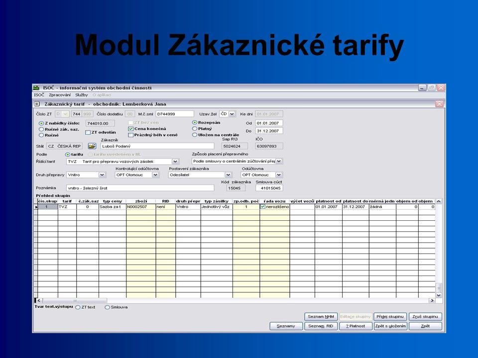 ISOČ-C centrální systém pro ukládání poskytnutých smluvních cen komunikace přes www-rozhraní zpětná vazba z ISOČ-C do ISOČ možnost dotazu na stav uložení Zákaznického tarifu v ISOČ-C