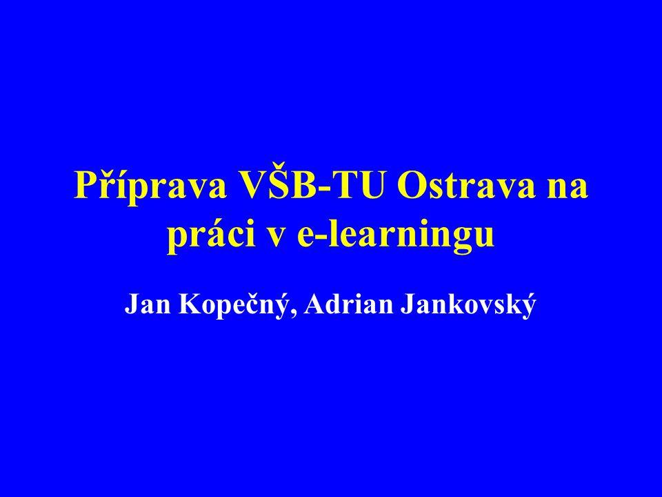 Příprava VŠB-TU Ostrava na práci v e-learningu Jan Kopečný, Adrian Jankovský