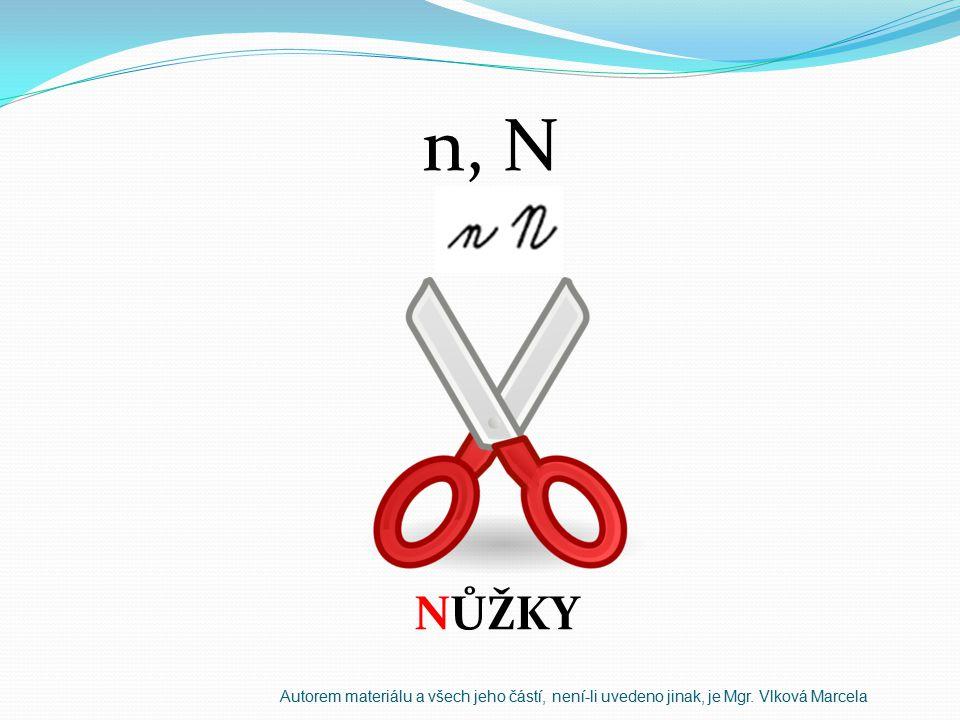 n, N NŮŽKY Autorem materiálu a všech jeho částí, není-li uvedeno jinak, je Mgr. Vlková Marcela