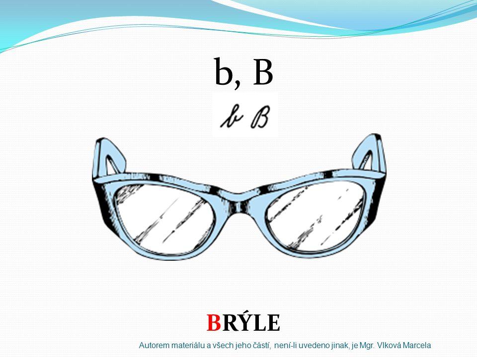 b, B BRÝLE Autorem materiálu a všech jeho částí, není-li uvedeno jinak, je Mgr. Vlková Marcela