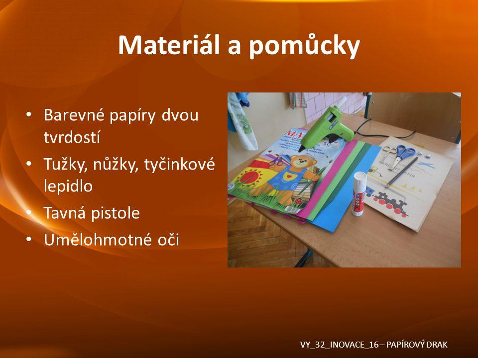Použité zdroje Veškeré použité materiály byly z vlastních zdrojů VY_32_INOVACE_16 – PAPÍROVÝ DRAK