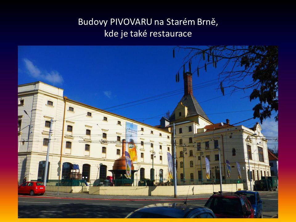 Skupina budov brněnského PIVOVARU dnešní pivovar byl založen v r. 1872 na místě bývalého klášterního pivovaru
