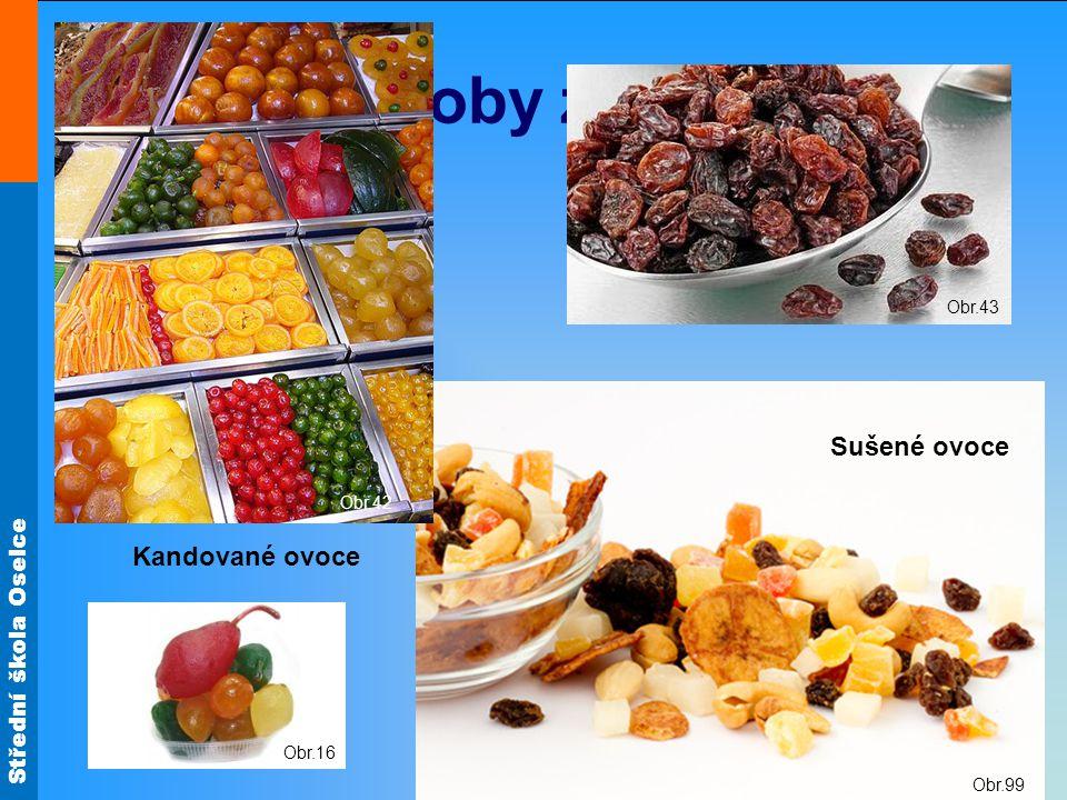 Střední škola Oselce Obr.99 Ozdoby z ovoce Obr.42 Kandované ovoce Obr.16 Sušené ovoce Obr.43