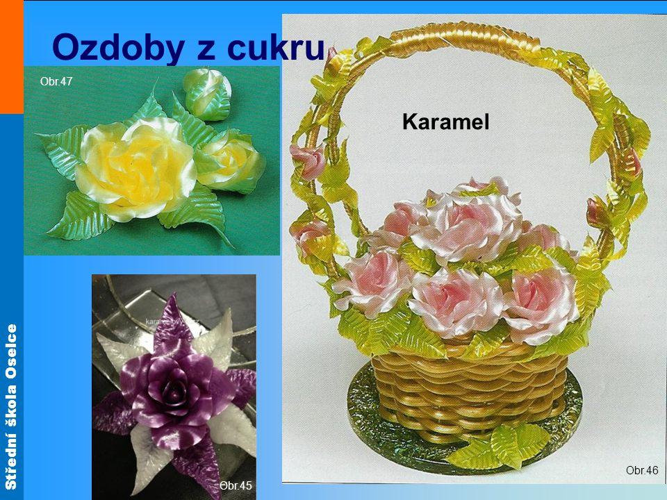 Střední škola Oselce Obr.46 Ozdoby z cukru Karamelový drak Obr.45 Obr.47 Karamel