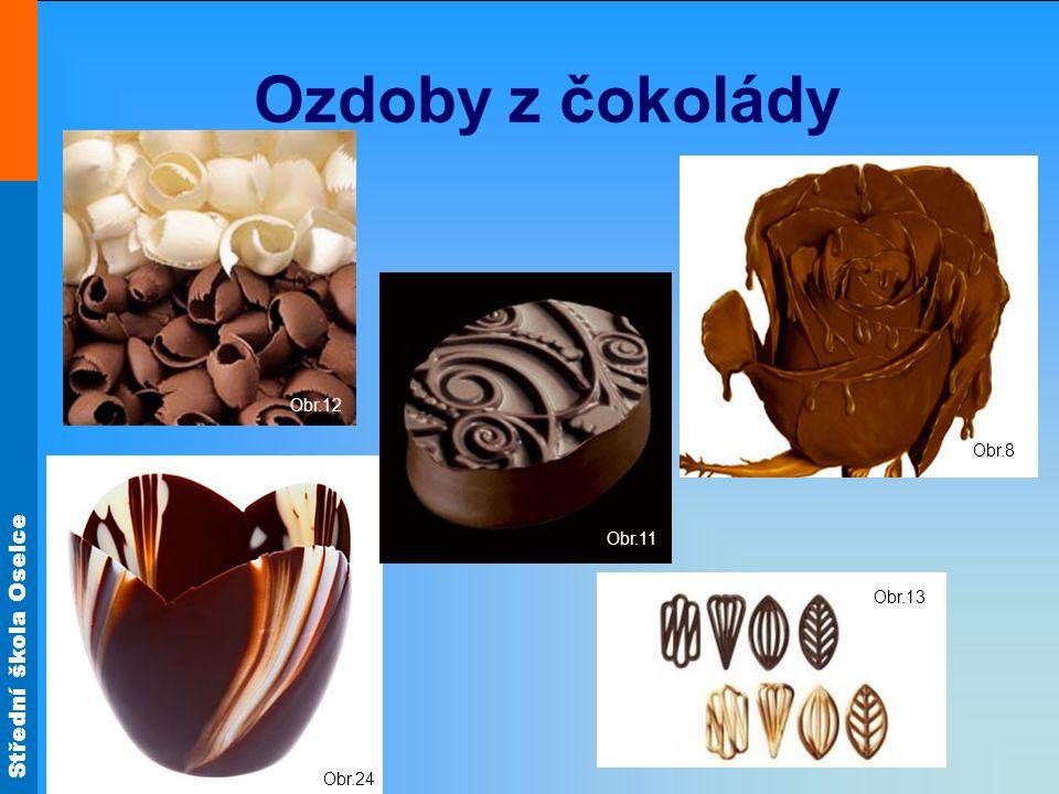 Střední škola Oselce Ozdoby z čokolády Obr.13 Obr.24 Obr.11 Obr.12 Obr.8