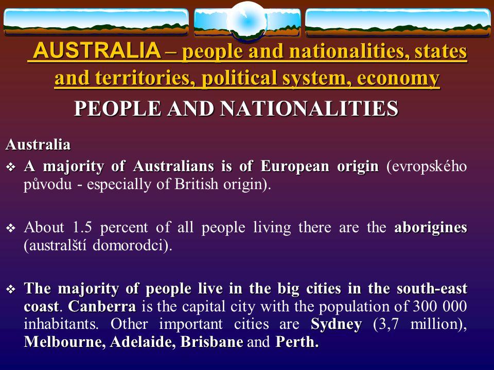Způsob využití: Způsob využití: určeno pro výklad a procvičení základních znalostí o obyvatelstvu, územním rozložení, politickém systému a ekonomice Austrálie.
