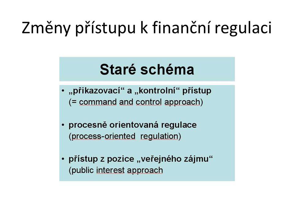 Změny přístupu k finanční regulaci