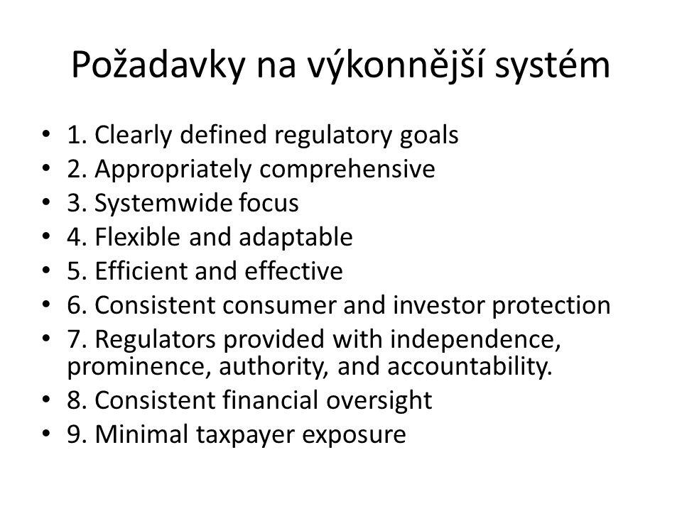 Požadavky na výkonnější systém 1. Clearly defined regulatory goals 2.