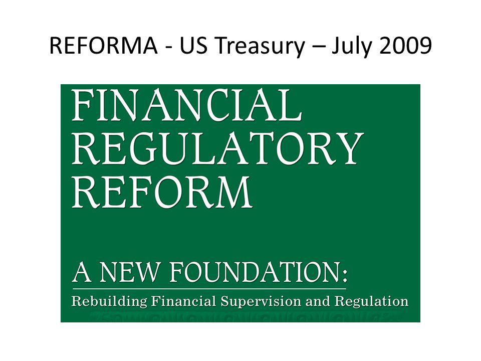 REFORMA - US Treasury – July 2009