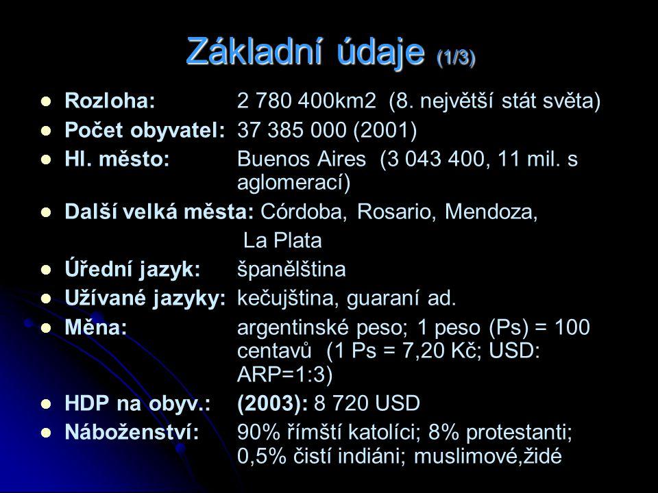 Základní údaje (1/3) Rozloha: 2 780 400km2 (8.