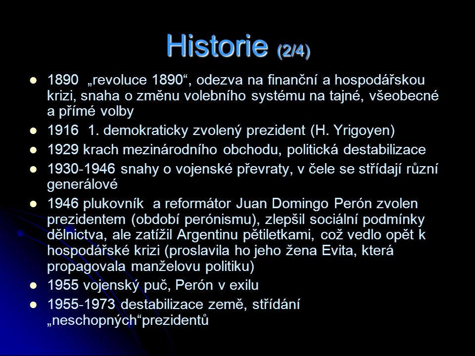 """Historie (2/4) 1890 """"revoluce 1890 , odezva na finanční a hospodářskou krizi, snaha o změnu volebního systému na tajné, všeobecné a přímé volby 1916 1."""