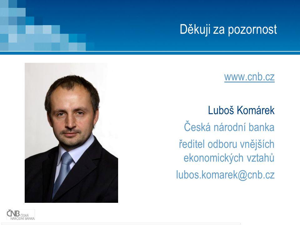 Děkuji za pozornost www.cnb.cz Luboš Komárek Česká národní banka ředitel odboru vnějších ekonomických vztahů lubos.komarek@cnb.cz