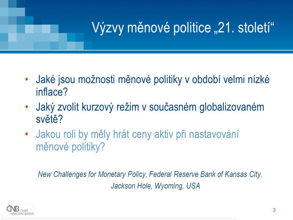 """3 Výzvy měnové politice """"21."""
