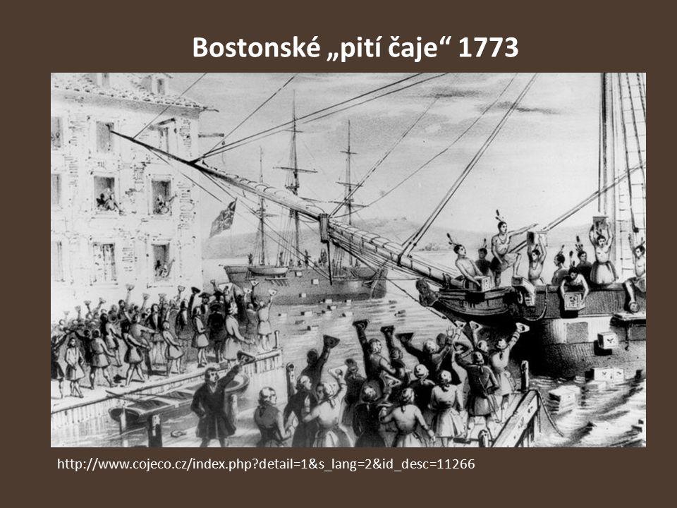 """Bostonské """"pití čaje"""" 1773 http://www.cojeco.cz/index.php?detail=1&s_lang=2&id_desc=11266"""