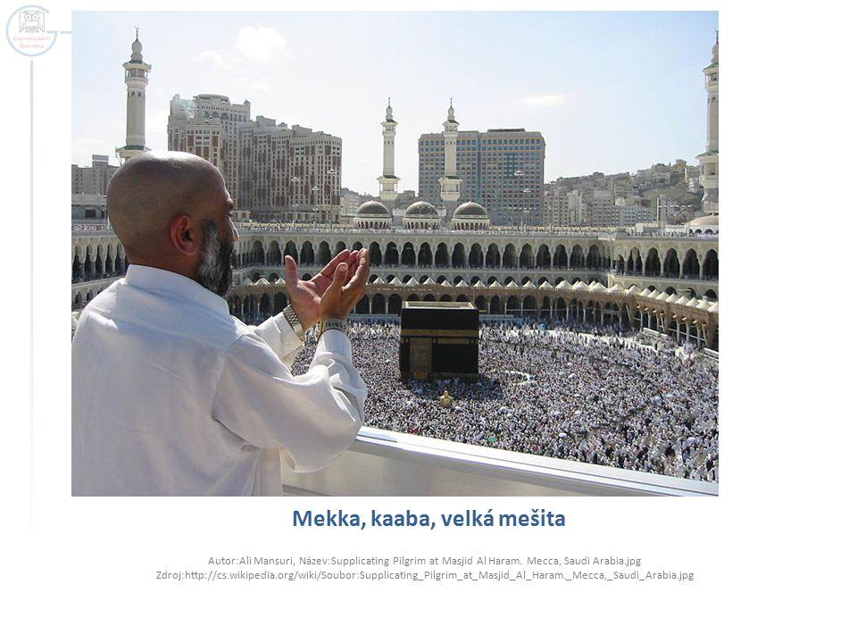 Mekka, kaaba, velká mešita Autor:Ali Mansuri, Název:Supplicating Pilgrim at Masjid Al Haram.