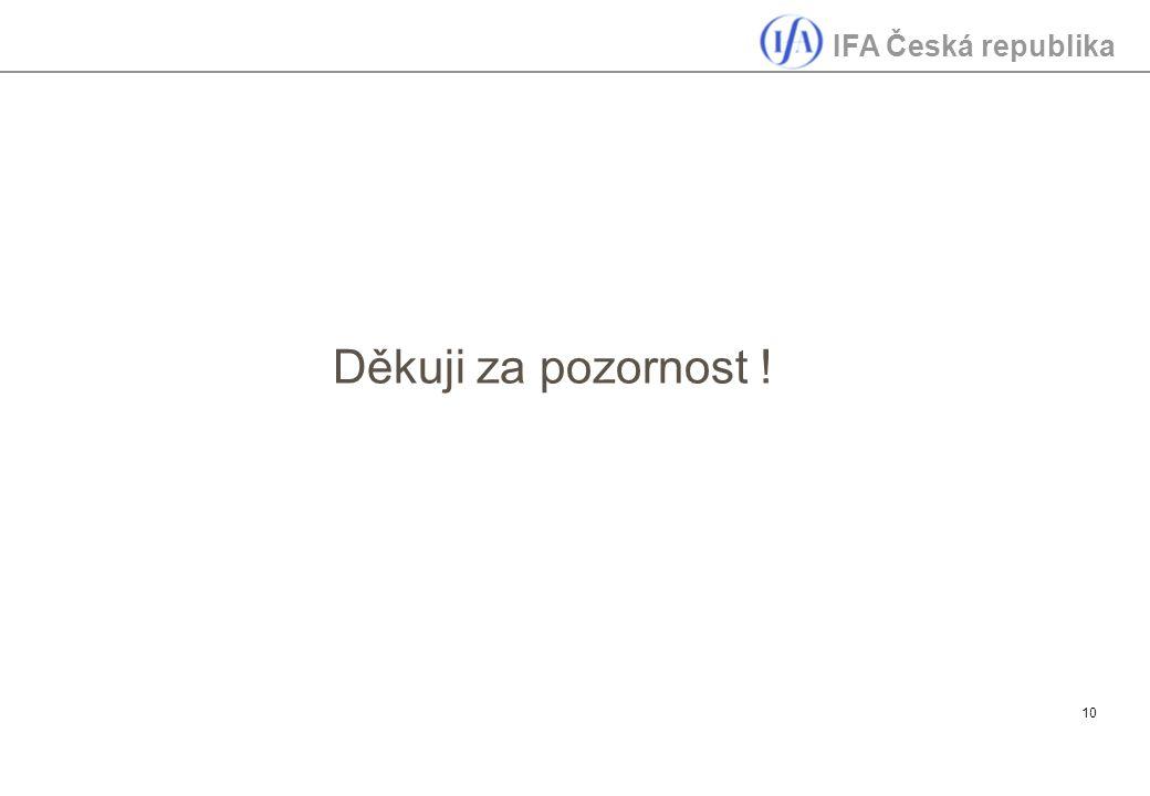 IFA Česká republika 10 Děkuji za pozornost !
