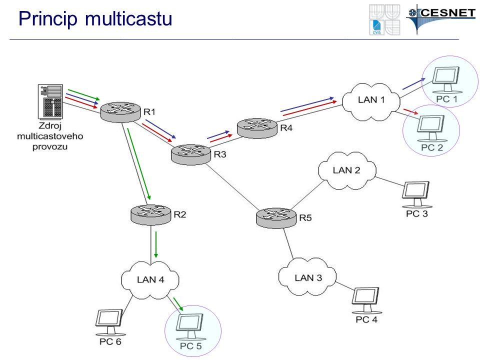 Princip multicastu