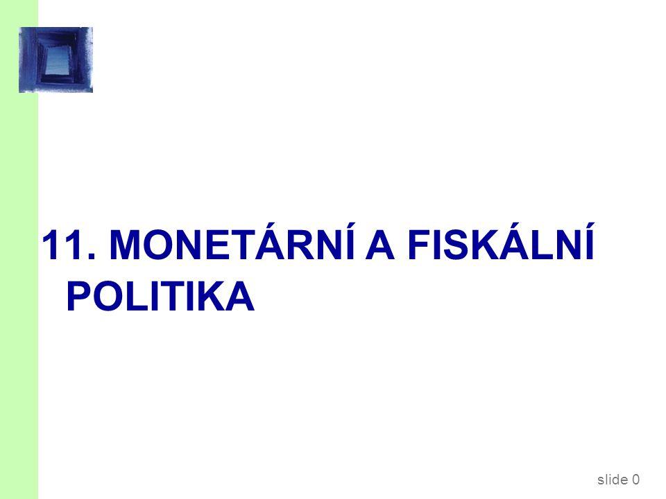 slide 0 11. MONETÁRNÍ A FISKÁLNÍ POLITIKA