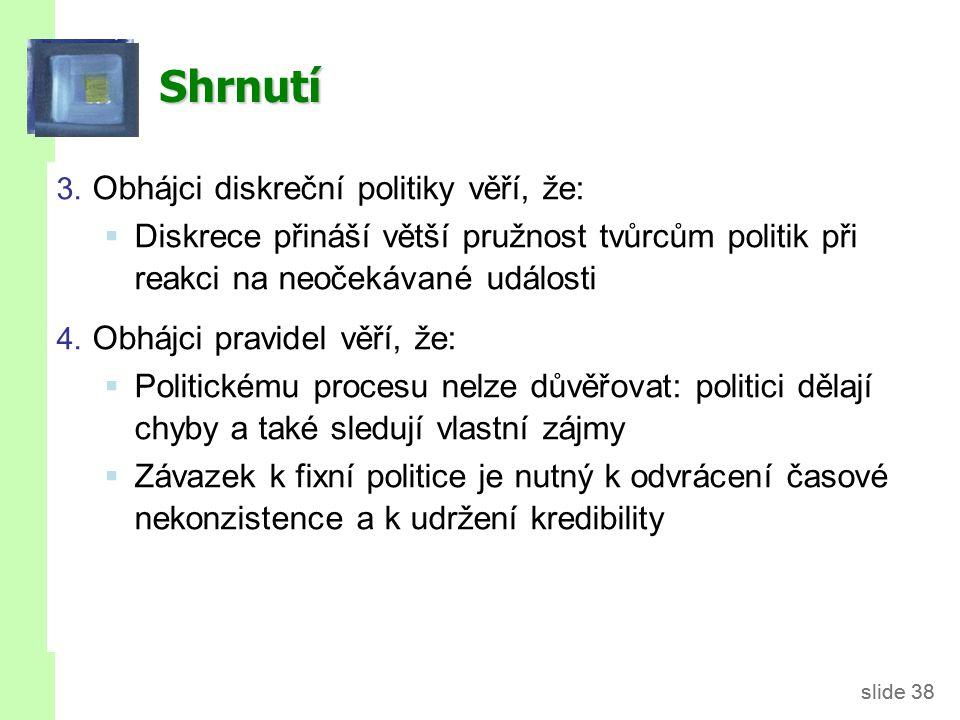 slide 39 Literatura Mankiw (2010): Chapter 15: Stabilization Policy Holman (2010): Kapitola 16: Měnová politika Powerpoint Slides: Mankiw's Macroeconomics 6th edition.