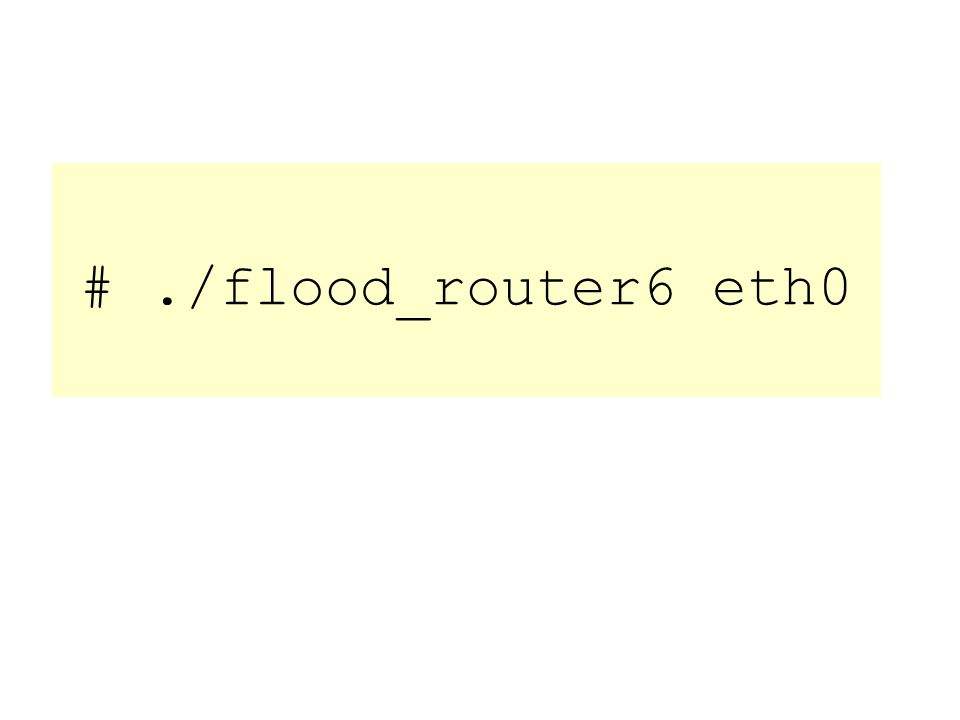 #./flood_router6 eth0
