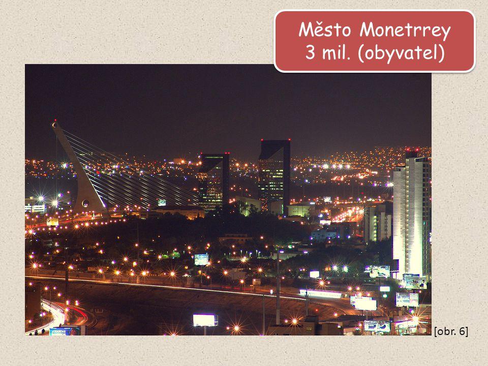 Město Monetrrey 3 mil. (obyvatel) Město Monetrrey 3 mil. (obyvatel) [obr. 6]