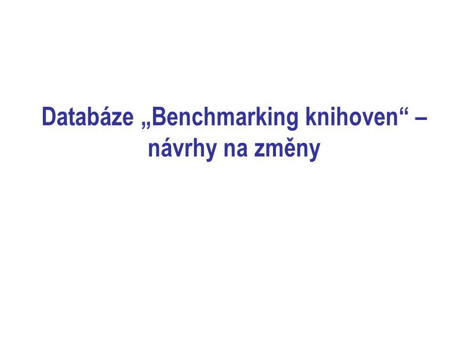 """Databáze """"Benchmarking knihoven – návrhy na změny"""